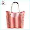 Promotional strip fashion rope cheap reusable canvas shopping bag