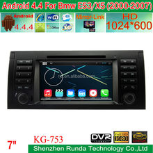 Android 4.4.4 touch screen car audio for BMW E53 X5 with GPS Navigation built-in wifi 3G bluetooth