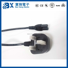 UK 2 Pin Plug to IEC C7 Connector 220V Extension Cord