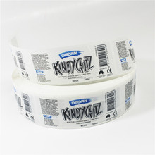 barcode serial number labels on plastic sheet