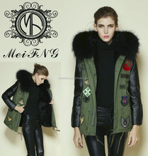 Real leather women rabbit fur vest, top quality from china factory