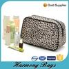 Classical design fashion microfiber leopard print cosmetic bag