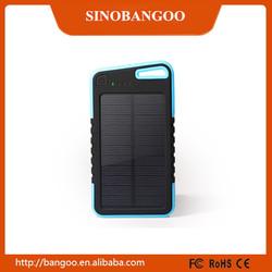 Solar power bank shenzhen manufacturer 5000mah 8000mah ultra design portable power bank solar