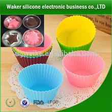Christams regalo promocional de silicona corona/rosa/taza de molde de la torta