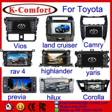K-comfort factory price dvd for toyota corolla 2014 right drive android car for sale