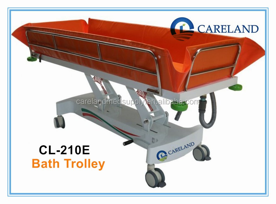 Hospital Physiotherapy Treatment Mobile Shower Beds,Bath Trolley ...