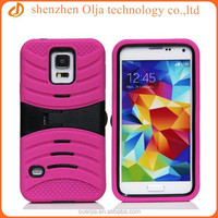 For Samsung Galaxy S5 Heavy Duty Rugged Case Skin,durable kickstand case for samsung smart phone