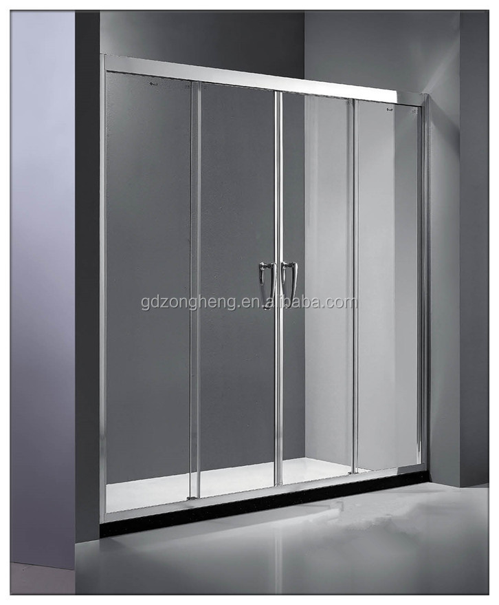 7001 Clear Flat Tempered Glass Shower Door 8mm Thick Toughened Glass