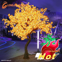 Simulation outdoor led tree lighting/ LED Maple Tree light for street decorations