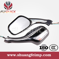 FLYQUICK motorcycle parts made in china, motorcycle back mirror with LED light for YAMAHA ZY125
