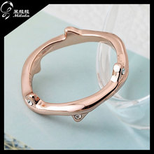 2014 Fashion Style CZ Angel Diamond Plated 18k Gold Simple Gold Ring Designs