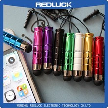 Wholesale Mini stylus pen with earphone dust plug for Capacitive touch pen