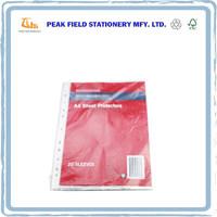 a4 a5 Plastic Clear Sheet Protectors Document Bag