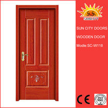 Best quantity light color traditional garage wooden door for South Africa SC-W108