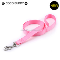 Pink color nylon webbing dog leash 1 inch width 2015 hot new pet dog products
