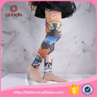 alibaba china 2015new produce best quality japan colorful pattern printed kids leggings wholesale