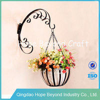 Antique metal hanging basket stand hanging flower basket