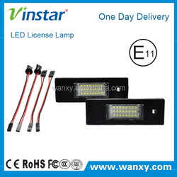 Stock style Mini R55 E4 led license plate light for BMW made in China