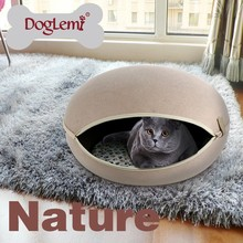 Trade Assurance DogLemi Best Seling Cute Cat Fasion Burger Cave Bed House with a Removeable Cussion