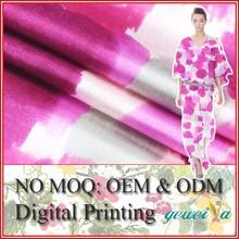 No MOQ Custom Digital Printed Silk Cotton Fabric