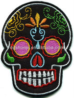 Skull tattoo biker horror goth punk emo rock retro applique/Skull applique/skull embroidery designs