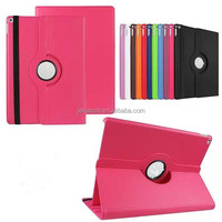 360 degree rotating leather case with stand for iPad Pro