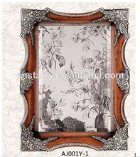 casa de antigüedades decorativas de madera marco de fotos