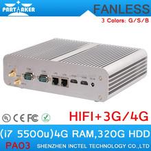 i7 5500u 4G RAM 320G HDD Mini Computer Computer Parts dual lan intel distributor