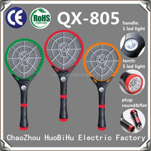 QX 805-19 rechargeable Electronic LED Light Mosquito killing Bat Flea Trap with torch 5 led light