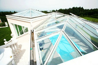 Building glass ( the raw material toughened glass) for green house and sun room