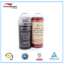 --Empty round tin can for packaging with CMYKRG 6 color printing aerosol can for fillingspray paint from CHINA