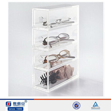 Trade assurance supplier,beauty custom clear eyeglass display cabinet,acrylic display stand