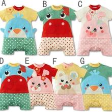 MS64961C all types short sleeve animal design romper baby garments