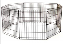 "30"" Black Exercise 8 Panels Dog Pen Fence Crate Cat Kennel Playpen"