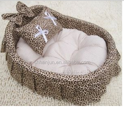 Luxury Cushioned Rattan Wicker Pet Dog Cat Bed Lounge Sofa 45