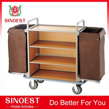 Guangzhou supplier Hotel room service trolley laundry cart