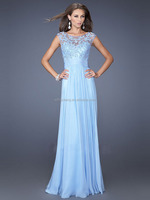 HT2238 elegant light blue young mother of the bride dresses