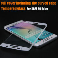 S6edge Tempered Glass,Two Arc Edge Screen Protector,Glass Full Body Covered Curved Screen Protector for Samsung Galaxy S6 Edge