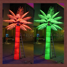 Metal frame tree palm/coconut trunk led lighting 6m 2014 new product artificial plant