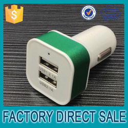 latest hot sale auto spare parts various colors car charher , mini wholesale car charging , dual port car charger