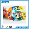 Custom high gloss paper permanent adhesive sticker