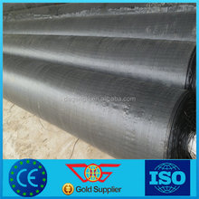 Anti UV black recycled polypropylene woven geotextile fabric