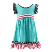 2015 Kaiyo latest design fancy dresses for baby girl sleeveless girl frock dress children girl dress