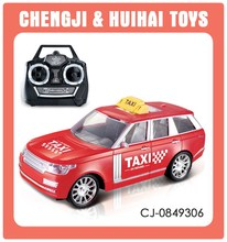 4 Channel radio control plastic taxi toy car