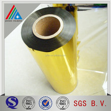 Gold Metalized Pet Film for paper board lamination