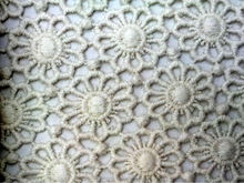 Dyeable White coloured Embroidery Lace design