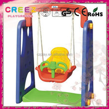 Newest factory direct garden plastic swing and slide set
