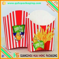 Top recycle material safe ink french fries carton box