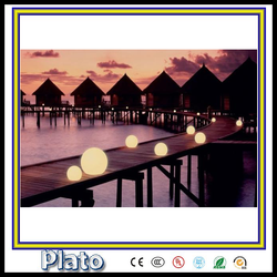 Outdoor and indoor LED light water floating ball