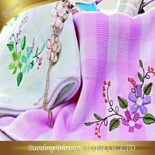Cotton Towel Baby Blanket HRM Gauze Embroidery Jacquard Shower Towel Baby Towel Blanket Set